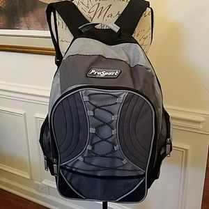 ProSport Backpack Gray/Black Many Compartments